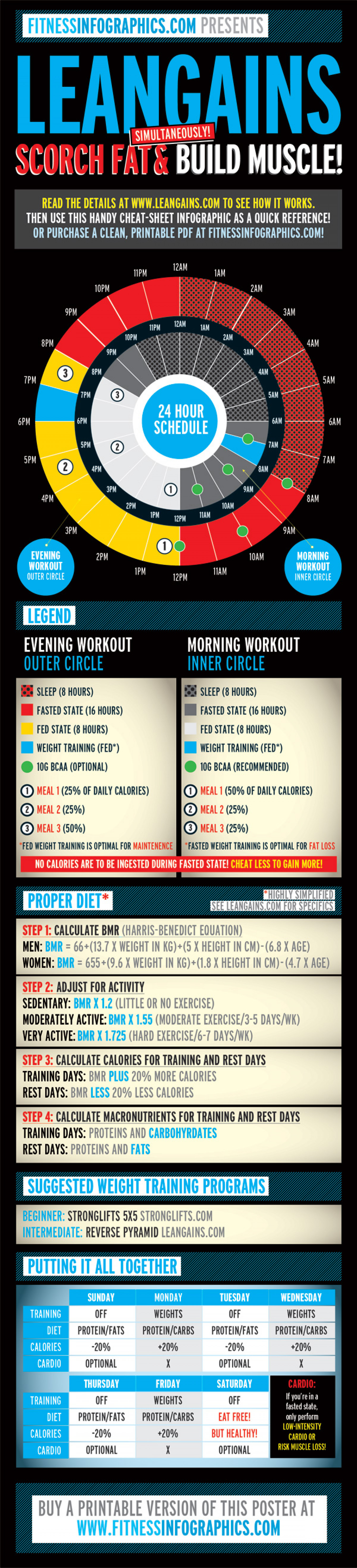 Leangains Infographic