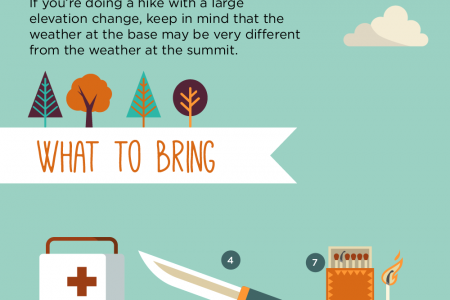 Let's Go Hiking Infographic