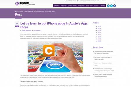 Let us learn to put iPhone apps in Apple's App Store Infographic