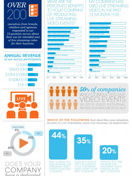 Live Streaming Video Use By Brands Infographic