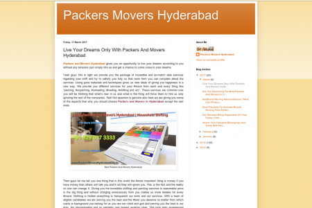 Live Your Dreams Only With Packers And Movers Hyderabad Infographic