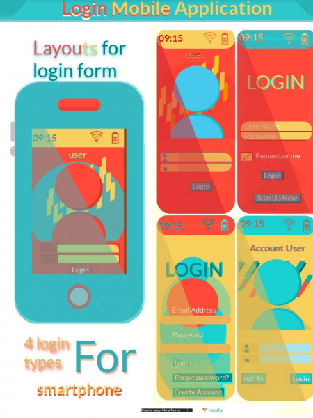 Login Mobile Application Infographic