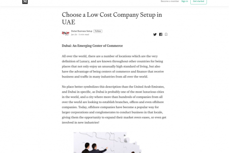 Low cost Company setup in UAE Infographic
