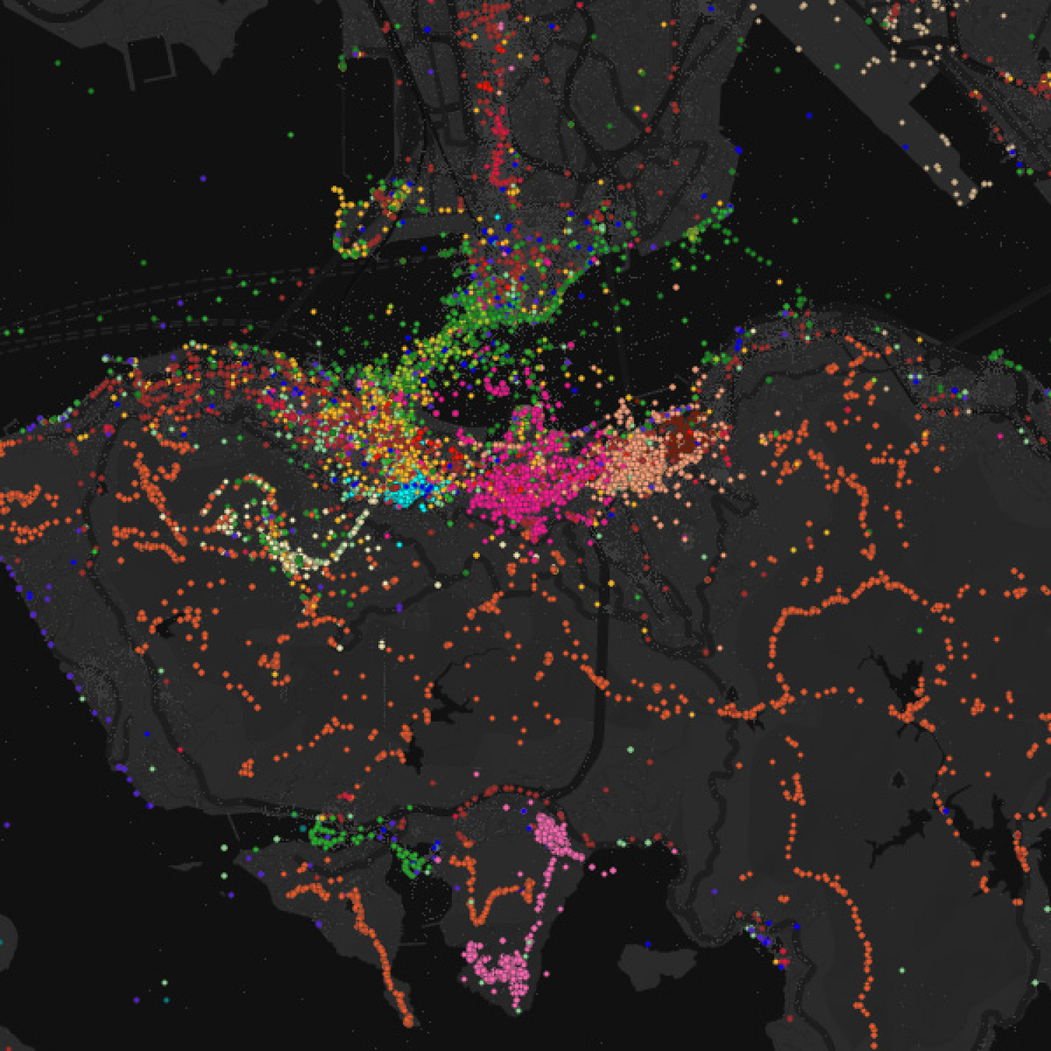 Luminous Cities - Flickr Tags Infographic
