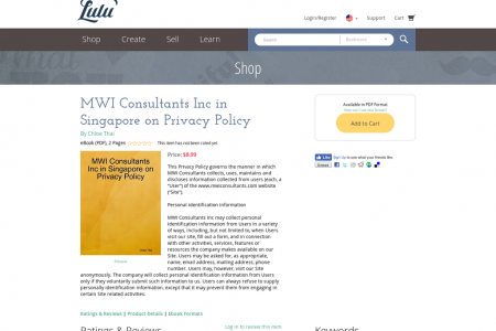 MWI Consultants Inc in Singapore on Privacy Policy Infographic
