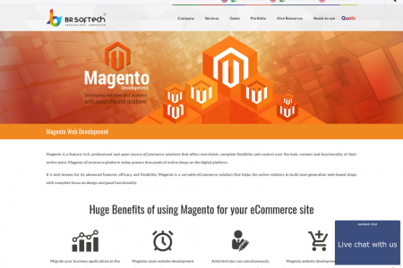 Magento Ecommerce Web Develpment Company in India Infographic