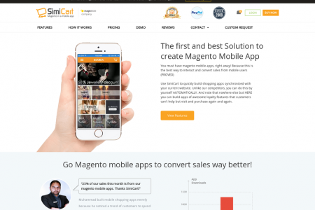 Magento Mobile App Development - SimiCart Infographic
