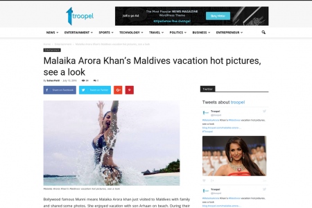 Malaika Arora Khan's Maldives vacation hot pictures, see a look Infographic