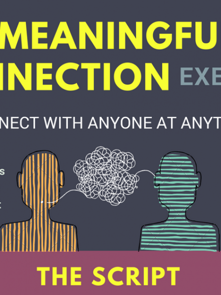Meaningful Connection: connect with anyone, anytime. Infographic