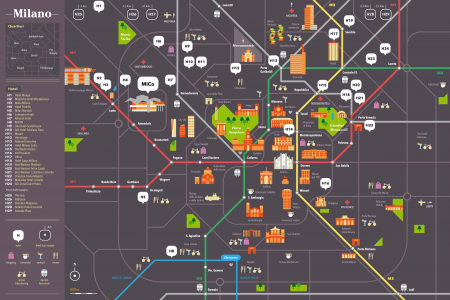 Milan: The Ultimate Map Infographic