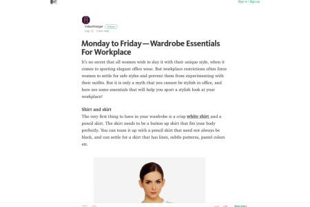 Monday to Friday—Wardrobe Essentials For Workplace Infographic