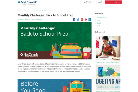 Monthly Challenge: Back to School Prep Infographic