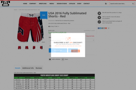 MyHOUSE USA Fully Sublimated Shorts Red Infographic
