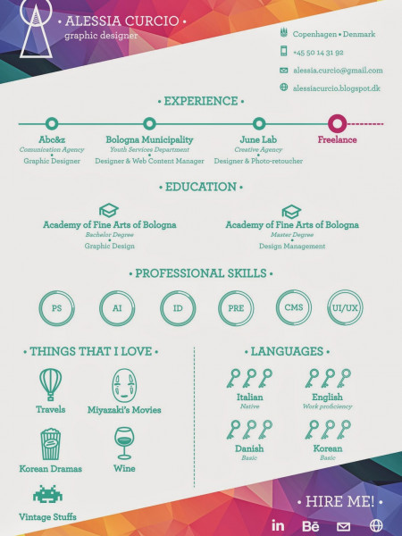 My resume. Infographic