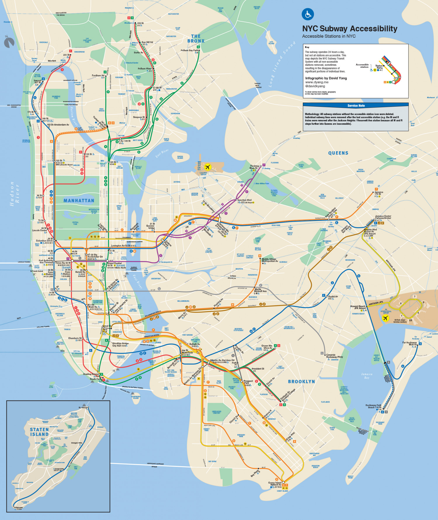 Nyc Subway Map 2000.Nyc Subway Accessibility Visual Ly