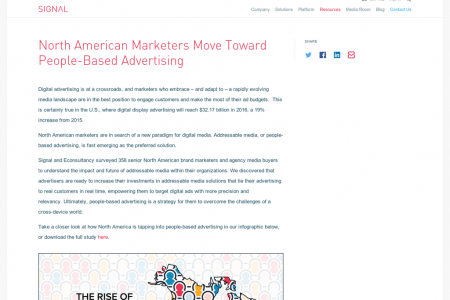 North American Marketers Move Toward People-Based Advertising Infographic