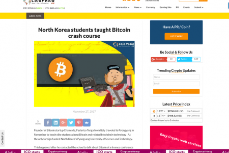 North Korea students taught Bitcoin crash course  Infographic