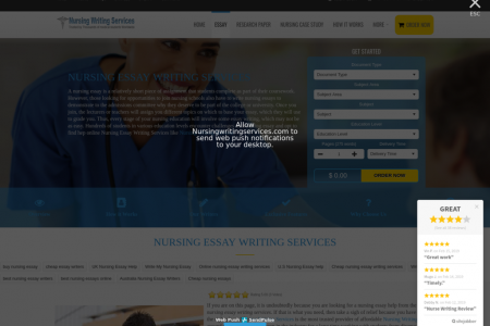 Nursing Essay Writing Services Infographic
