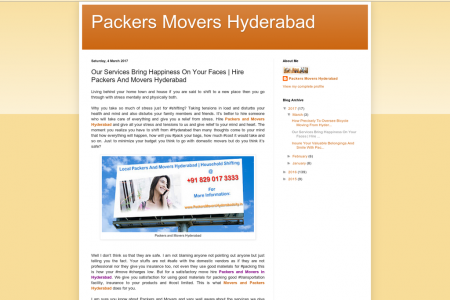 Our Services Bring Happiness On Your Faces | Hire Packers And Movers Hyderabad Infographic