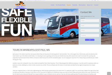 Party Bus Twin Cities Infographic