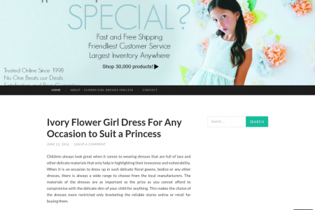Party Time Ivory Flower Girl Dresses Infographic