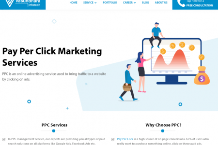 Pay Per Click Service | Paid Advertising | Vasundhara Infotech Infographic
