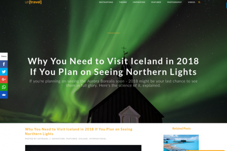 Plan to see the Northern Lights? Visit Iceland Before Time Runs Out Infographic