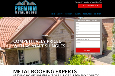Premium Metal Roofing Contractors and repair service Pittsburgh, Pennsylvania Infographic