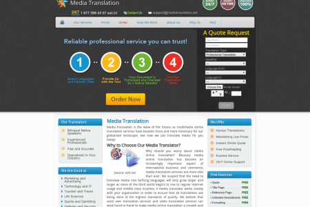 Professional Media Translation Services Infographic