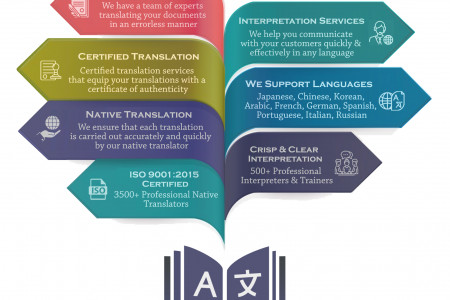 Professional Translation and Interpretation Services Infographic