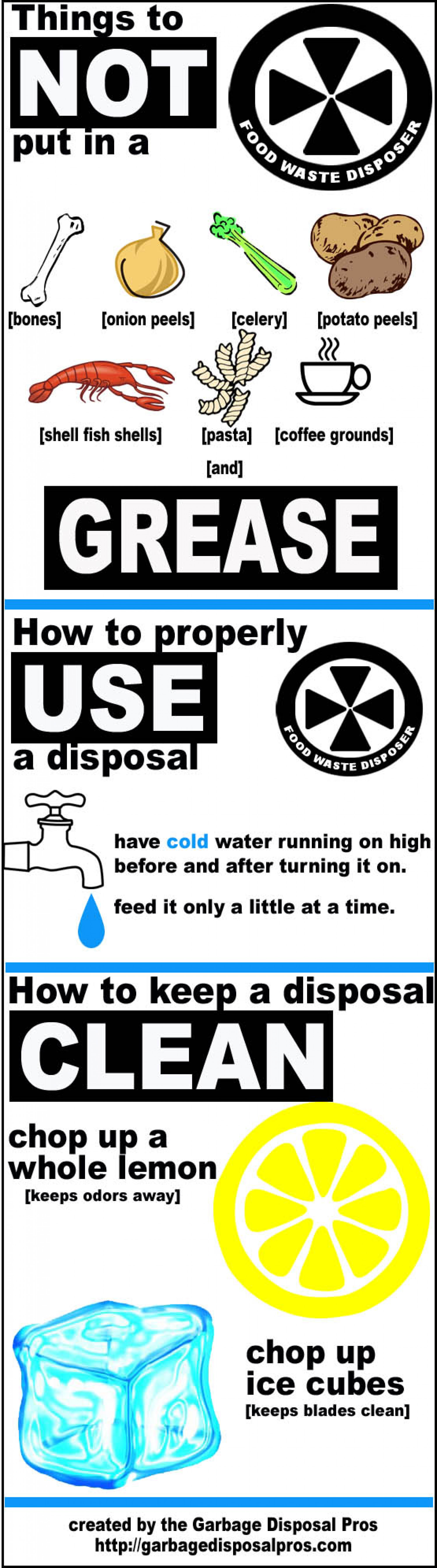 Proper Garbage Disposal Care Infographic