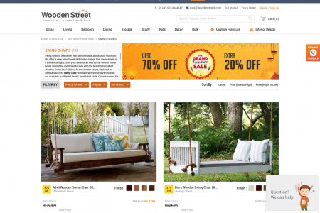 Purchase Swings For Home Online at very affordable Price Infographic