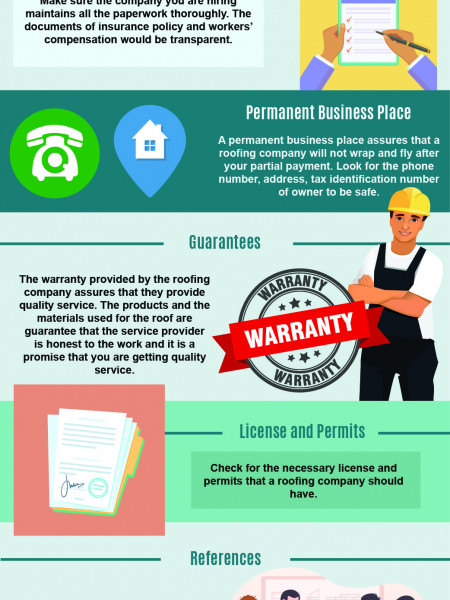 Qualities A Good Roofing Company Must Possess Infographic