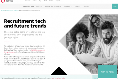 Recruitment tech and future trends Infographic
