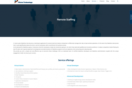 Remote staffing offshore solutions: Pletra Technologies  Infographic