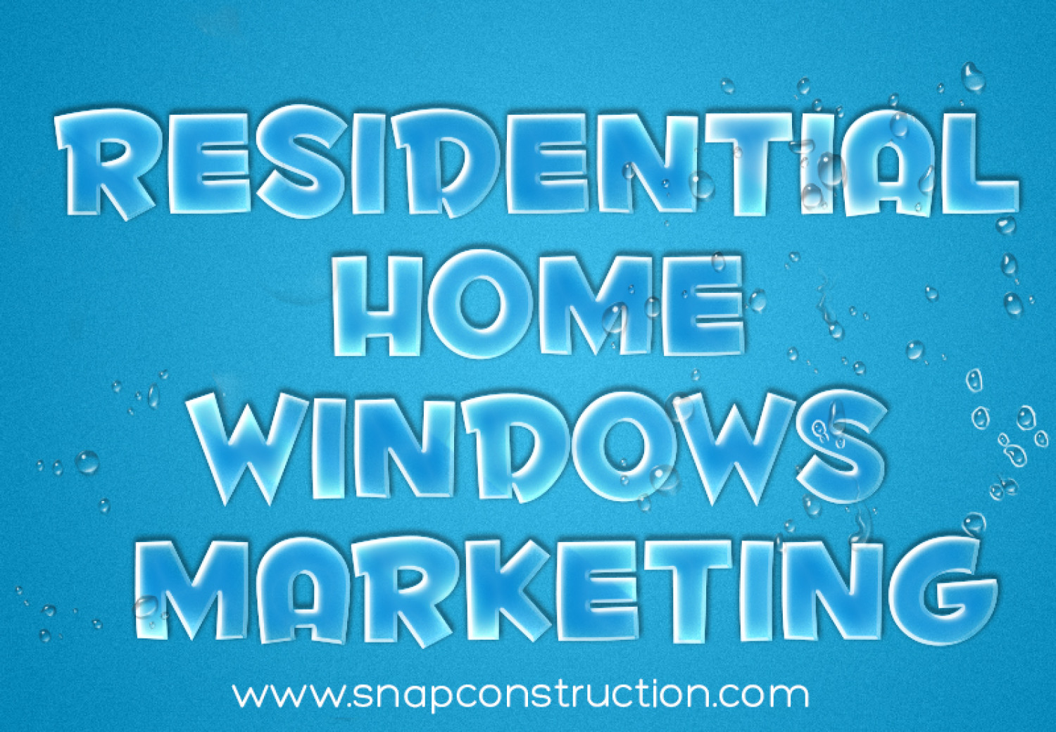 Residential Home Windows Marketing Infographic
