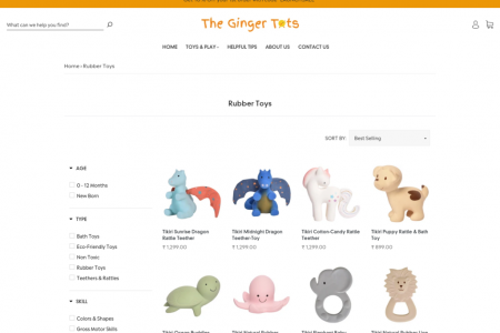 Rubber Toys for Kids Infographic