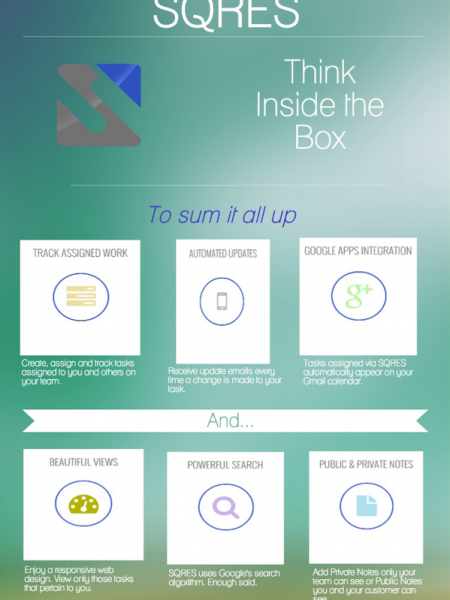 SQRES: A Web-Based Task Management App Infographic