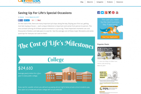 Saving Up For Life's Special Occasions Infographic