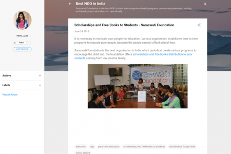 Scholarships and Free Books distribution to Students - Saraswati Foundation  Infographic