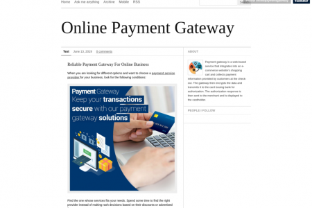 Secure Payment Gateway for your Online Business  Infographic