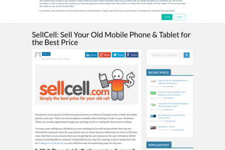 SellCell: Sell Your Old Mobile Phone & Tablet for the Best Price Infographic