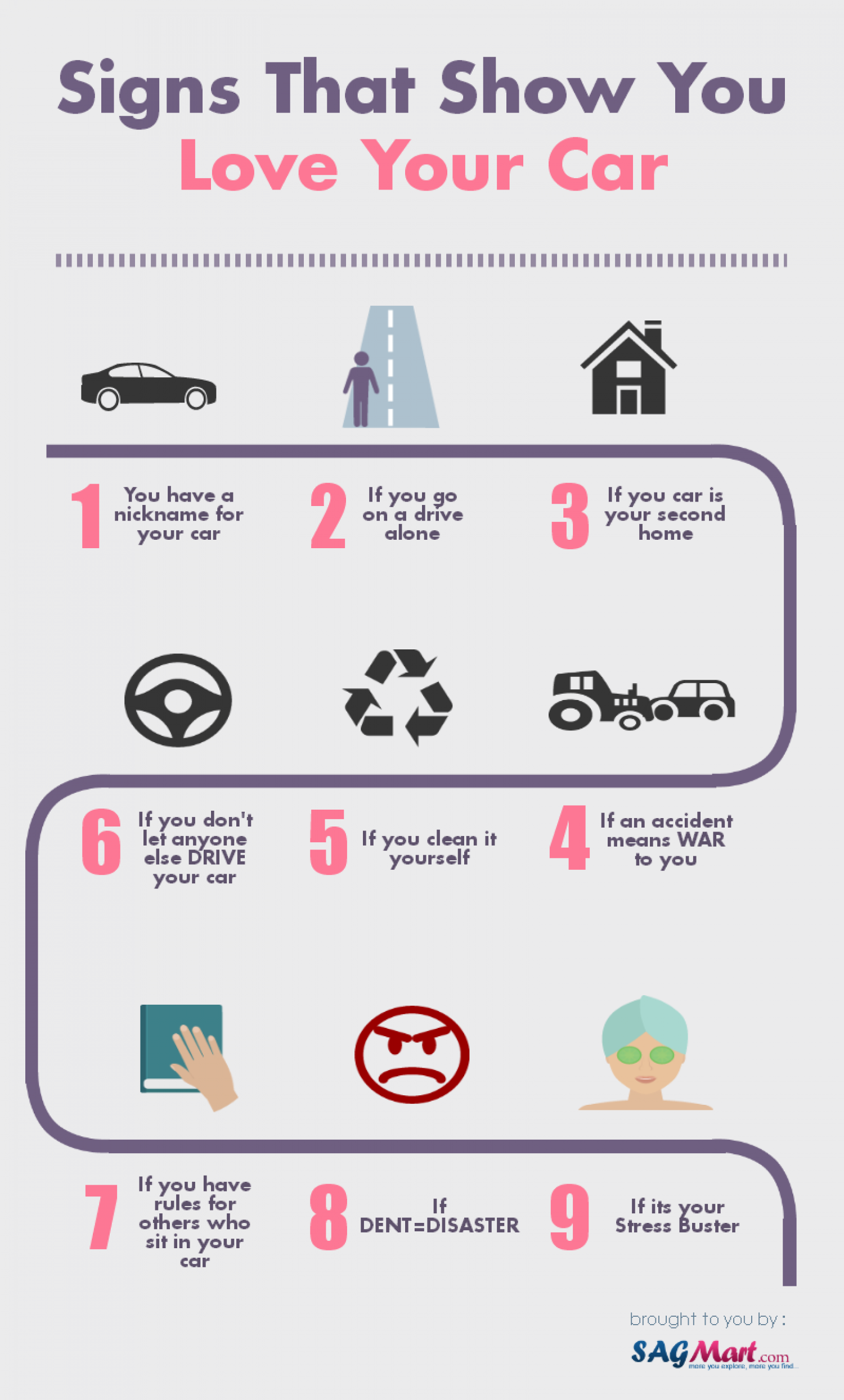 Signs that show you love your CAR Infographic