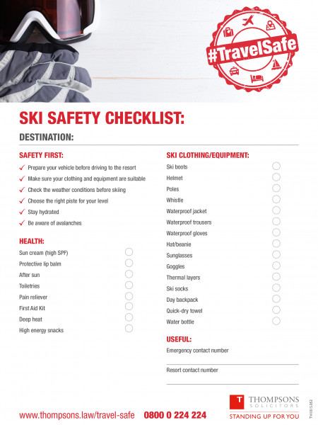 Ski Safety Checklist Infographic
