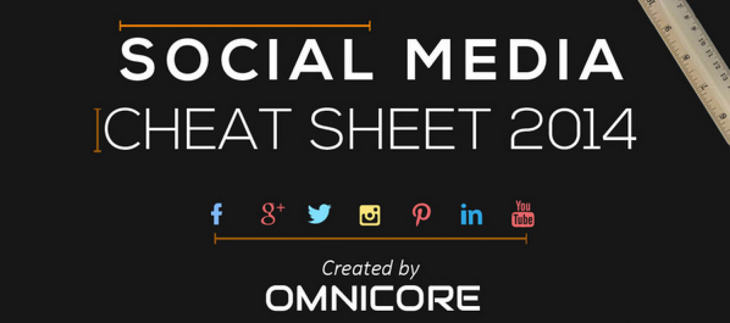 Social Media Cheat Sheet 2014 Infographic