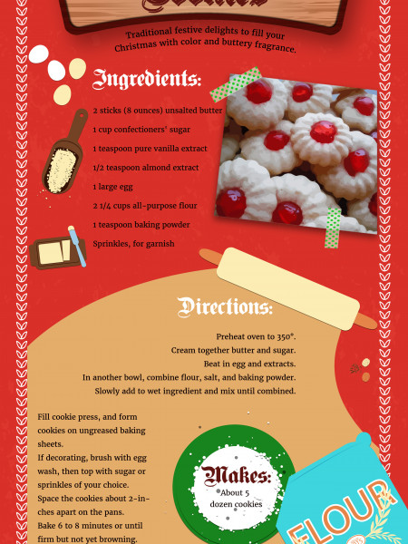Spritz Cookies Recipe Infographic