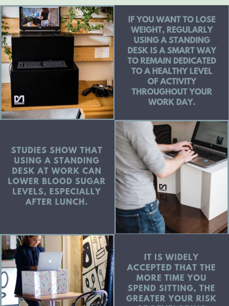 Standing Desk Health Benefits Infographic