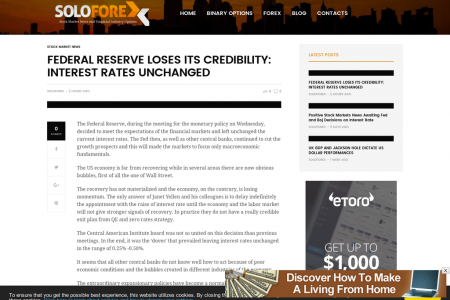Stock Market News | Federal Reserve Loses Its Credibility Infographic