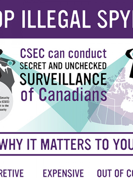Stop Illegal Spying Infographic