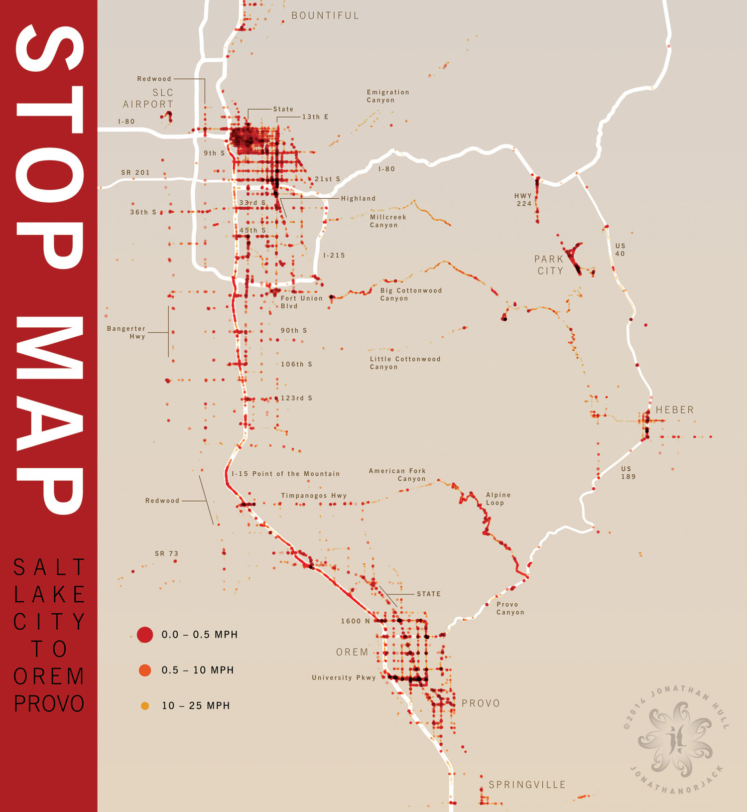 Stop Map Infographic